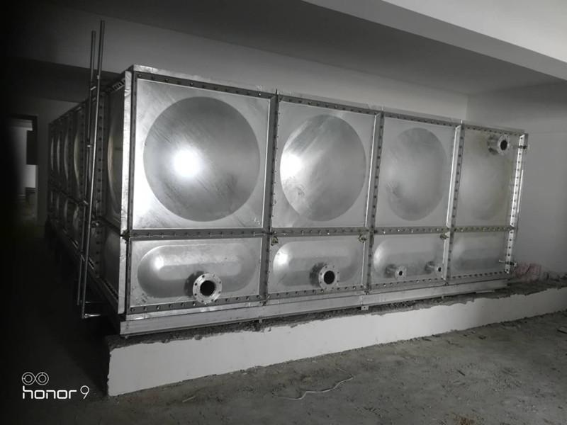 聊城36立方re镀锌钢ban水箱